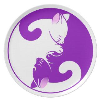 Yin Yang Kitty Party Plates