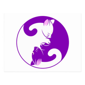 Yin Yang Kitty Postcard
