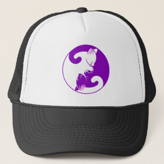 Yin Yang Kitty Trucker Hat