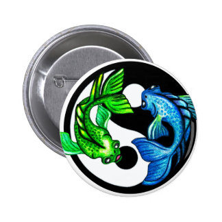 Yin-Yang Koi Design 2 Inch Round Button
