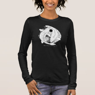 Yin Yang Koi Fish symbol Long Sleeve T-Shirt