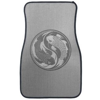 Yin Yang Koi Fish with Stainless Steel Effect Car Floor Carpet