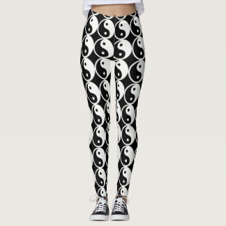 Yin Yang Leggings Black and White Leggings
