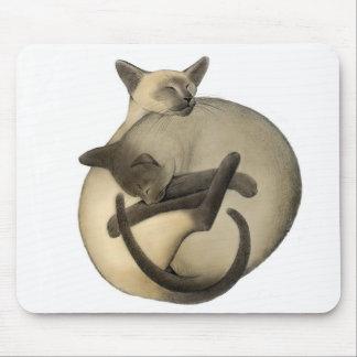 Yin Yang Love Cats Mousepad