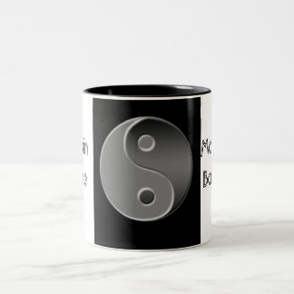 yin-yang, Maintain Balance Two-Tone Coffee Mug