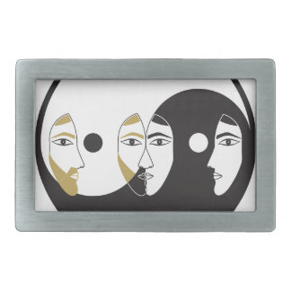 Yin Yang Man Woman Belt Buckles