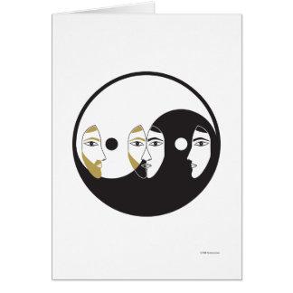Yin Yang Man Woman Card