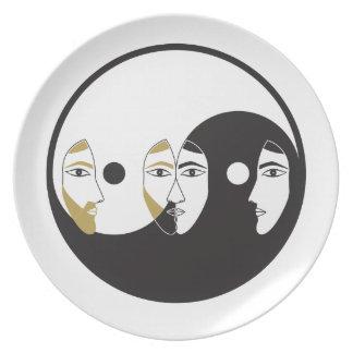 Yin Yang Man Woman Plate