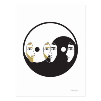 Yin Yang Man Woman Postcard
