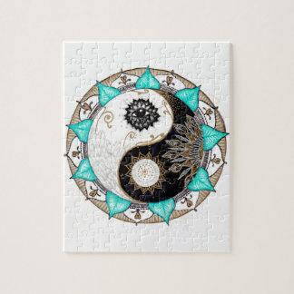 Yin Yang Mandala Jigsaw Puzzle