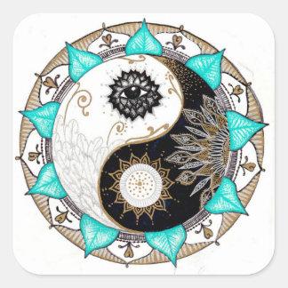 Yin Yang Mandala Square Sticker