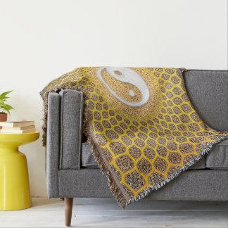 Yin Yang Mandala Throw Blanket