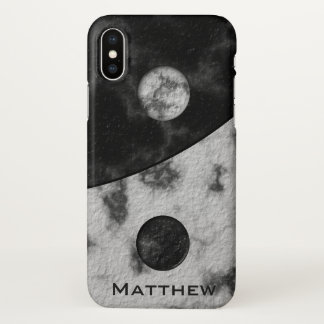 Yin Yang Marble Name Template iPhone X Case