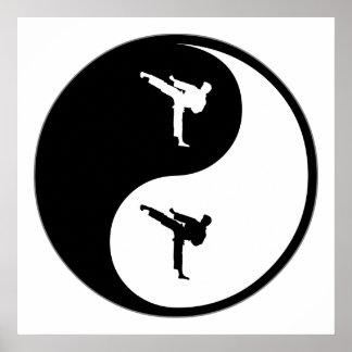 Yin Yang Martial Arts Poster