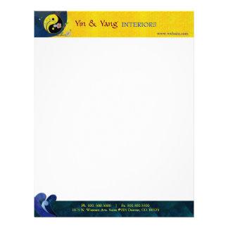 Yin & Yang Massage Therapy Business Letterhead