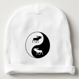 Yin Yang Moose Baby Beanie