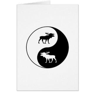 Yin Yang Moose Card