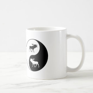 Yin Yang Moose Coffee Mug