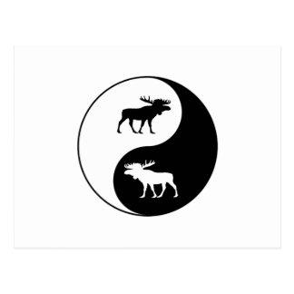 Yin Yang Moose Postcard