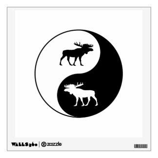 Yin Yang Moose Wall Decal