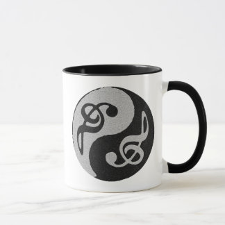 yin yang music clave note mug
