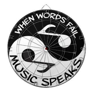 Yin yang music dartboard