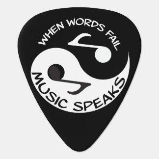 Yin yang music guitar pick