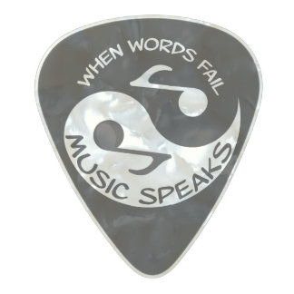 Yin yang music pearl celluloid guitar pick