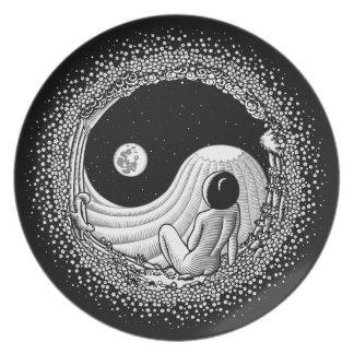 Yin Yang Night Party Plate