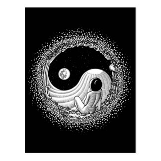 Yin Yang Night Postcard
