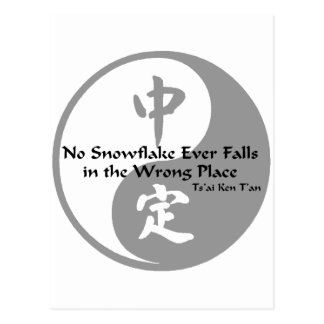Yin Yang - No Snow Flake Postcard