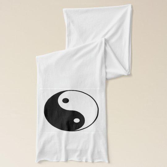 Yin yang ohm scarf