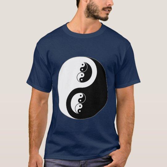Yin Yang on dark blue T-Shirt