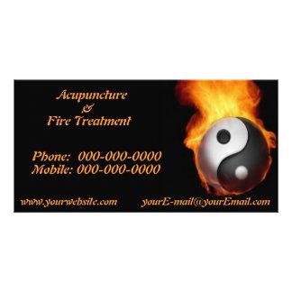 Yin Yang on Fire Photo Card
