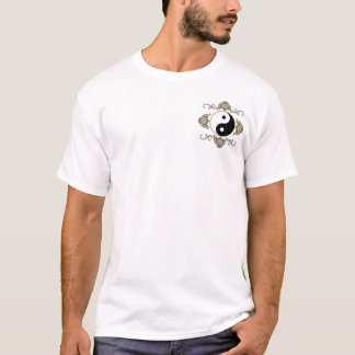 Yin Yang on Front Pocket and on Back T-Shirt