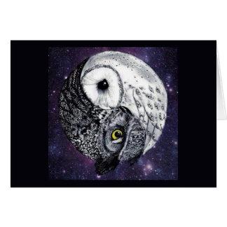 Yin Yang Owls Card