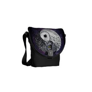 Yin Yang Owls Courier Bags