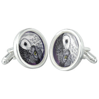 Yin Yang Owls Cuff Links
