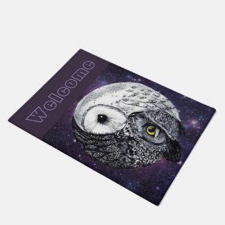 Yin Yang Owls Doormat