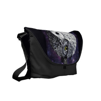 Yin Yang Owls Messenger Bag