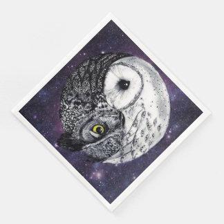 Yin Yang Owls Paper Dinner Napkin