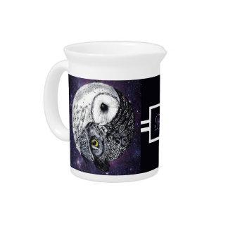 Yin Yang Owls Pitcher