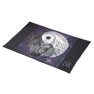 Yin Yang Owls Placemat