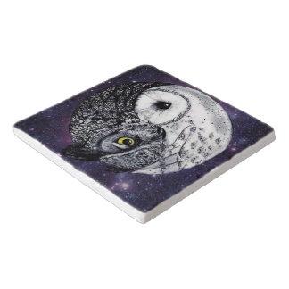 Yin Yang Owls Trivet