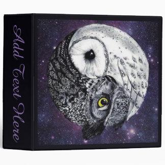 Yin Yang Owls Vinyl Binders