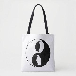 Yin Yang Penguin Tote Bag