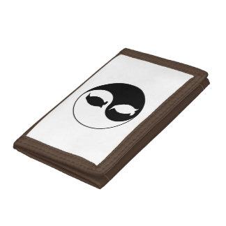 Yin Yang Penguin Tri-fold Wallets