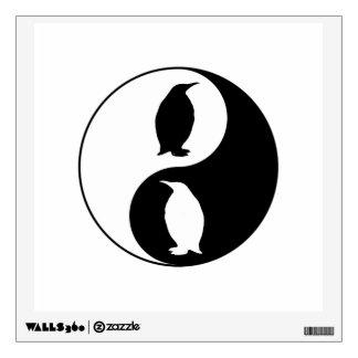 Yin Yang Penguin Wall Decal