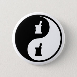 Yin Yang Pharmacology 2 Inch Round Button
