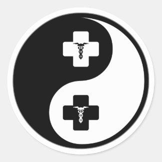 Yin Yang Phlebotomy Classic Round Sticker